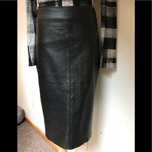 EUC sexy leather pencil skirt BCBGMaxAzria